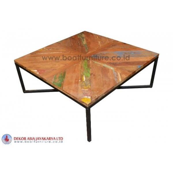 Coffee Table With One Iron Leg